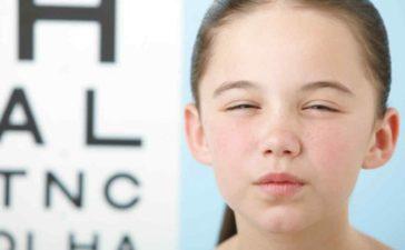 Los problemas de vista más frecuentes en niños