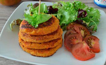 Receta saludable de medallones vegetarianos y veganos