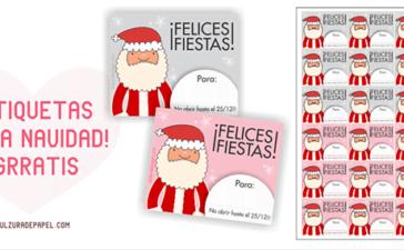etiquetas imprimibles navideñas