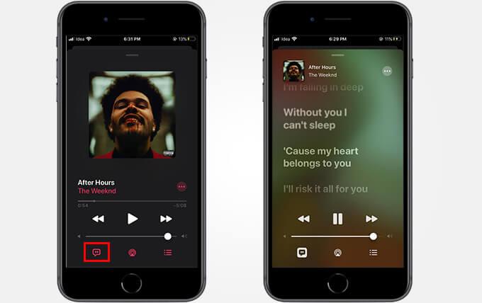 Apple Music live lyrics