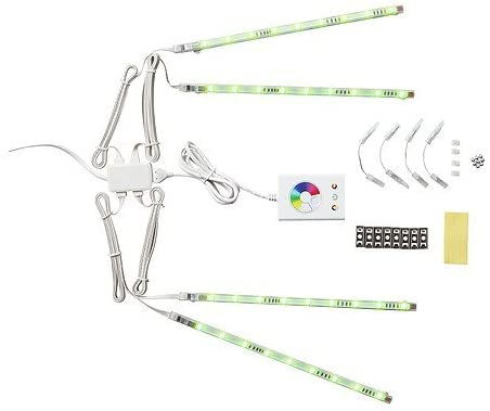 tiras de luz multicolor de 4 piezas DIODER